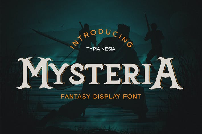 Thumbnail for Mysteria - Game Font
