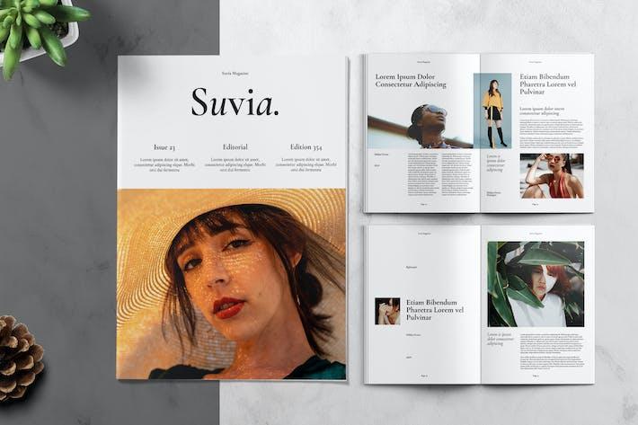 Thumbnail for Minimalist Aesthetic Fashion Magazine Template