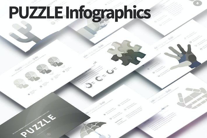 Thumbnail for PUZZLE - PowerPoint Infographics Slides