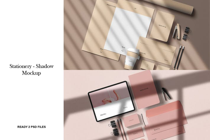 Thumbnail for Stationery with Shadow Mockup Vol. 1
