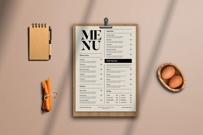 Thumbnail for Simple Food menu