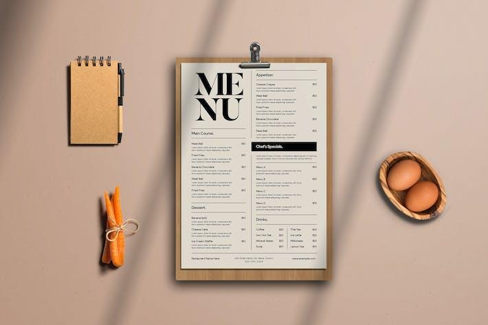 Cover Image For Simple Food menu