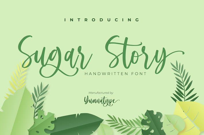 Sugar Story-Sweet Handwritten Font