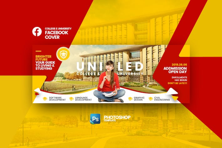Thumbnail for Uniled University FB Cover Photoshop Templat