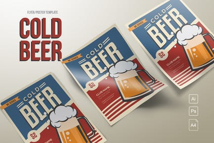 Classic Cold Beer Flyer