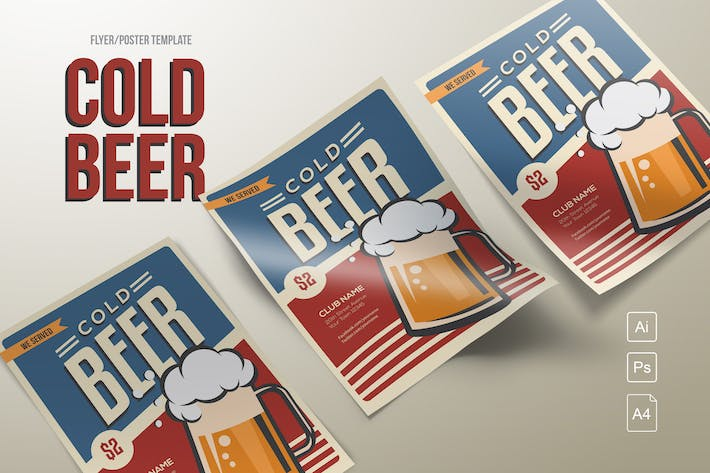 Thumbnail for Classic Cold Beer Flyer