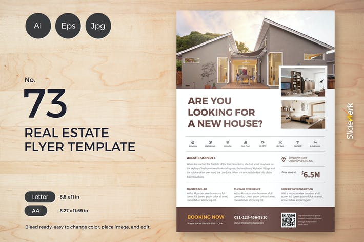 Thumbnail for Real Estate Flyer Template 73 - Slidewerk