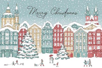 Winterhäuser - Frohe Weihnachten