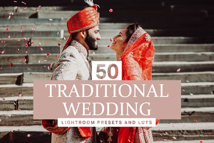 50 Traditional Wedding Lightroom Presets and LUTs