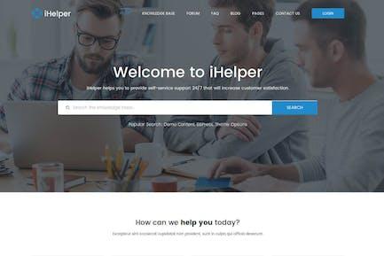 iHelper - Drupal знаний & Helpdesk Тема