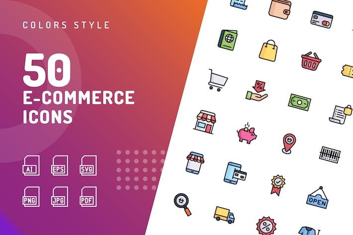 Thumbnail for Ecommerce Color Icons