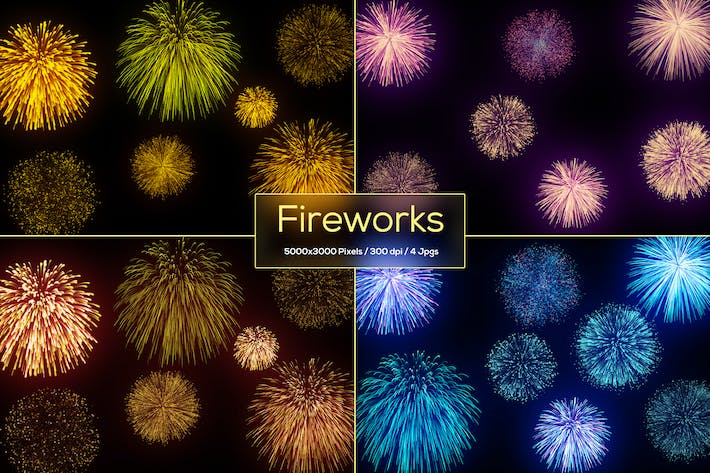 Thumbnail for Fireworks Backgrounds