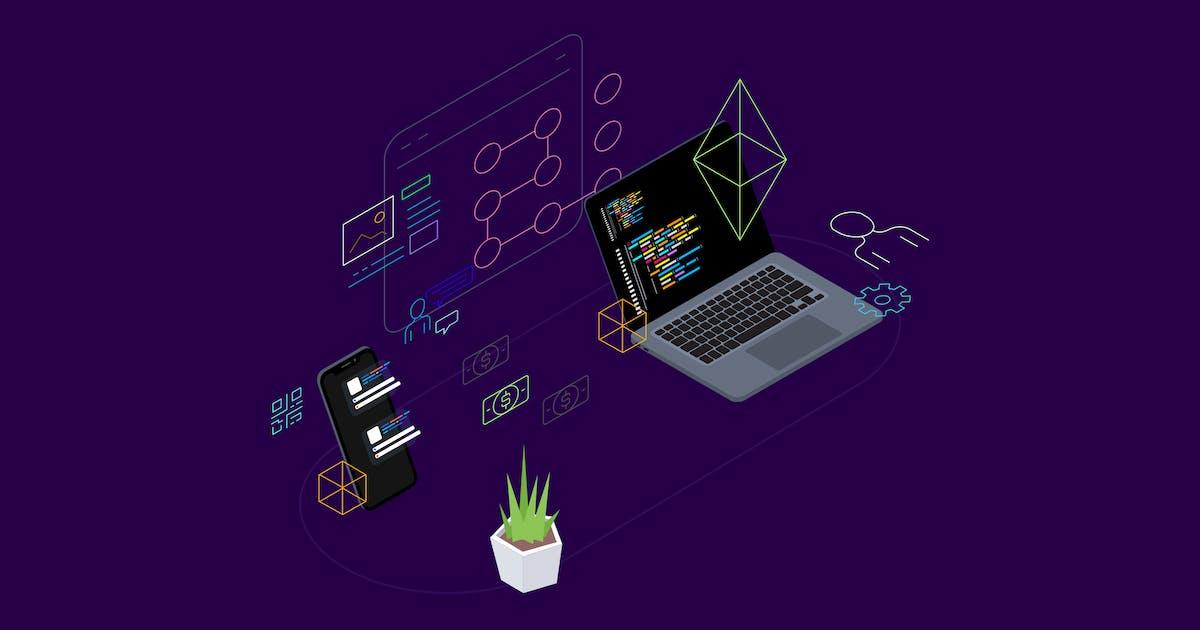 Download Blockchain Platform Isometric Illustration 5 by angelbi88