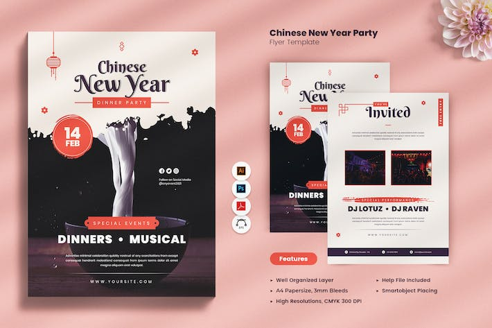 Thumbnail for Chinese New Year Dinner Party Flyer