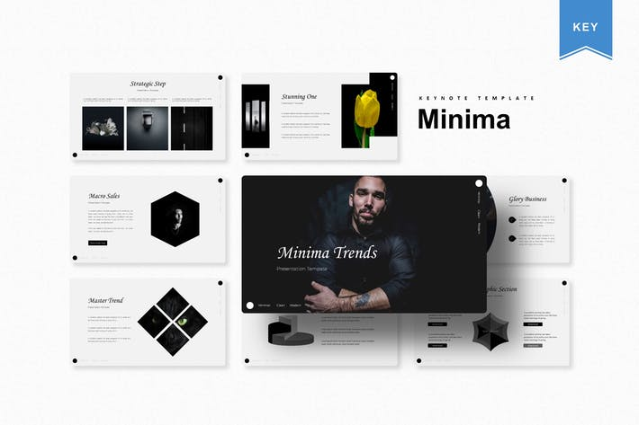 Cover Image For Minima | Шаблон Keynote