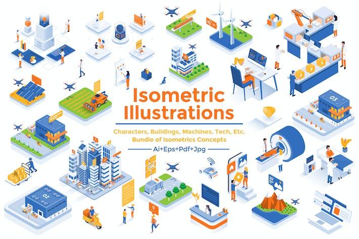 Thumbnail for Modern flat design isometric illustrations