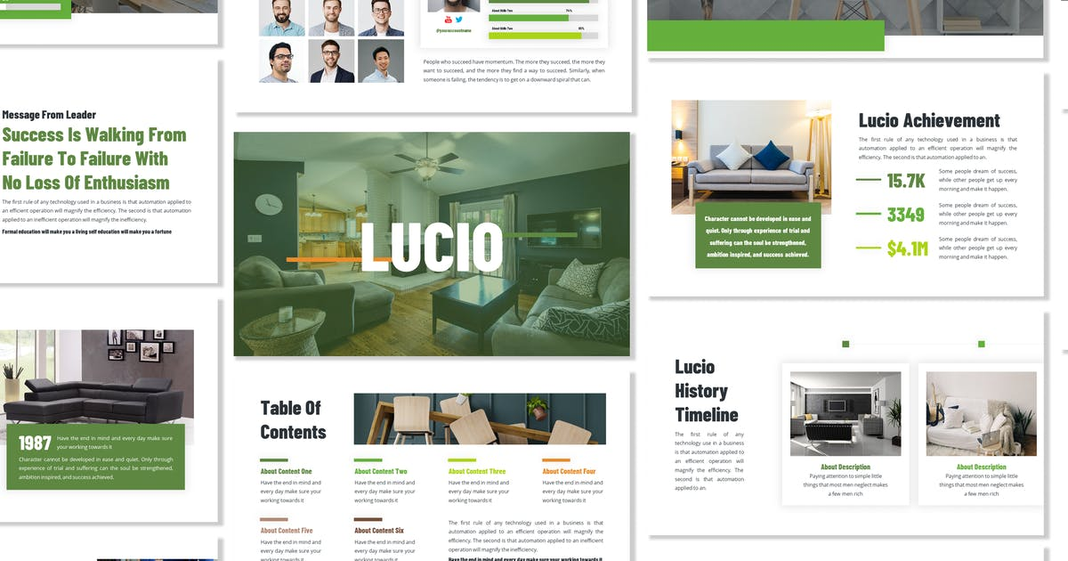 Download Lucio - Business Template Prensentation by Blesstudio