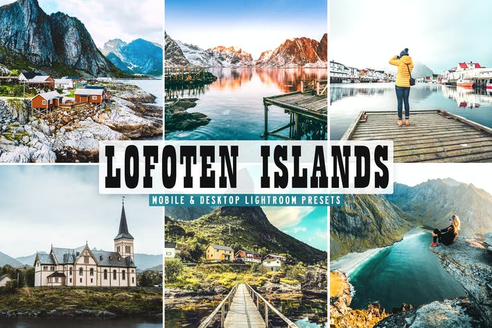 Thumbnail for Lofoten Islands Mobile & Desktop Lightroom Presets