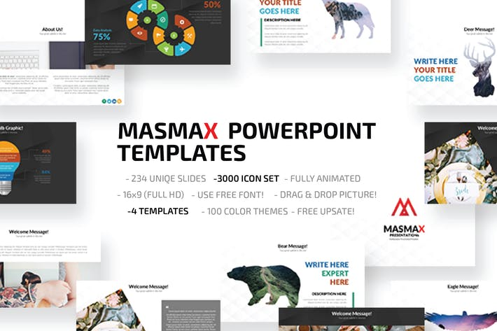 Thumbnail for Шаблон Powerpoint Masmax