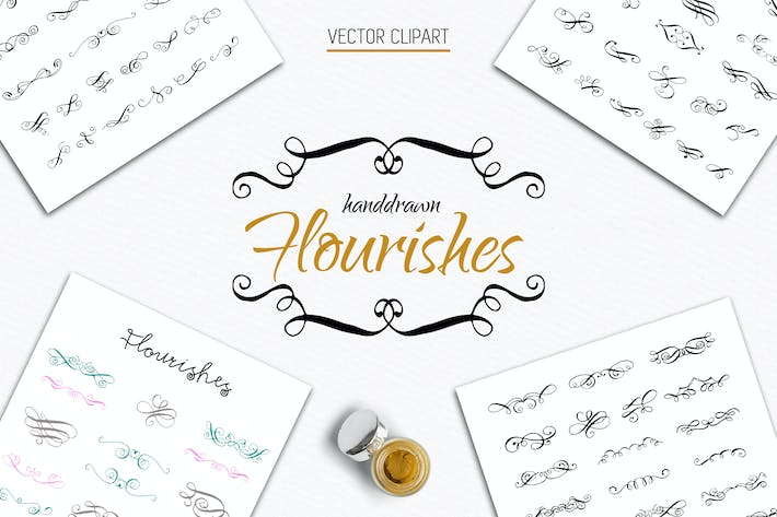 Thumbnail for 70 Calligraphic Flourishes Collection