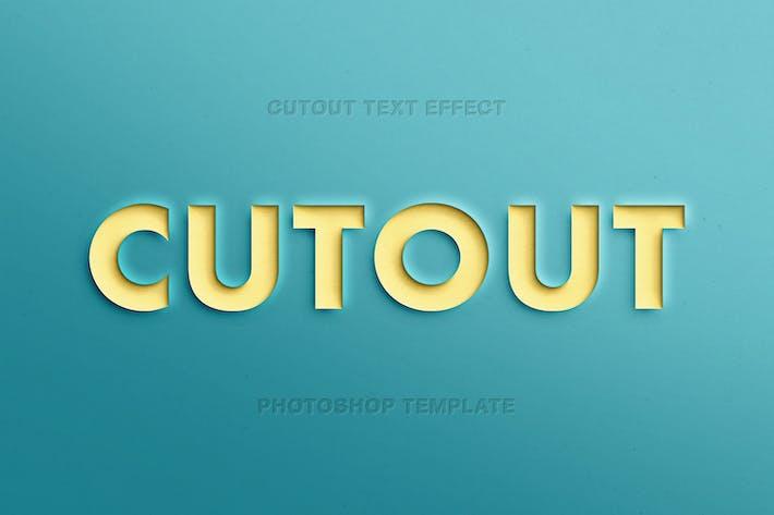 Эффект текста из бумаги