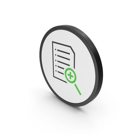 Icon Document File Zoom Green