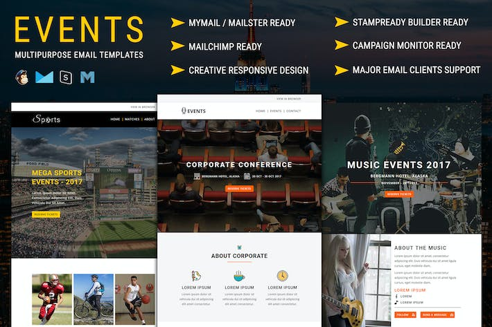 Thumbnail for EVENTS - Multipurpose Responsive Email Templates