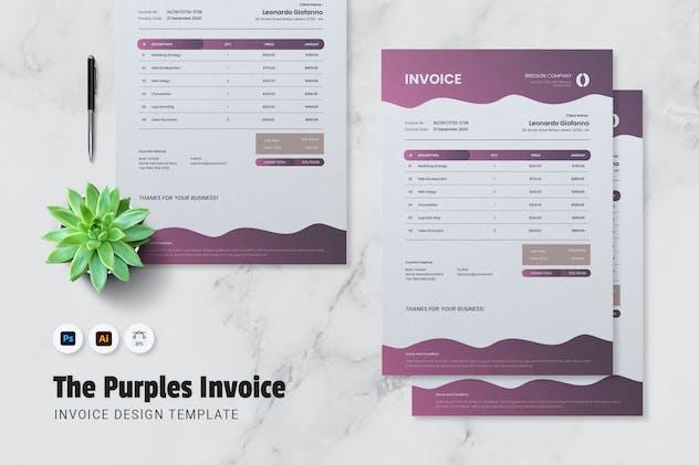 Purple Invoice