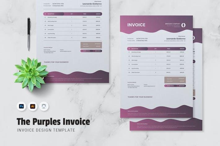 Thumbnail for Purple Invoice