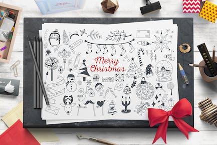 Kit de Vector de Navidad Acogedor