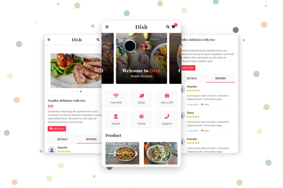 Dish - Cafe, Food and Restaurant Mobile Template