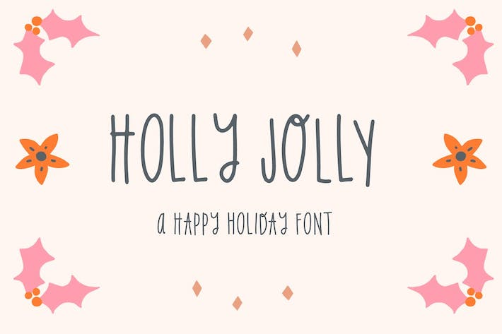 Thumbnail for Holly Jolly Holiday Font