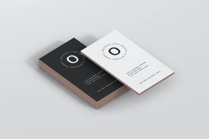 Thumbnail for Business Card Stack Mockup 90x50 Format