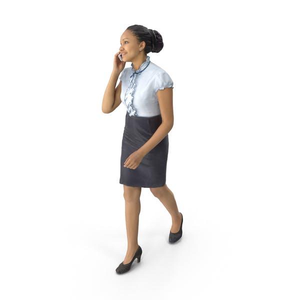 Thumbnail for Frau zu Fuß am Telefon