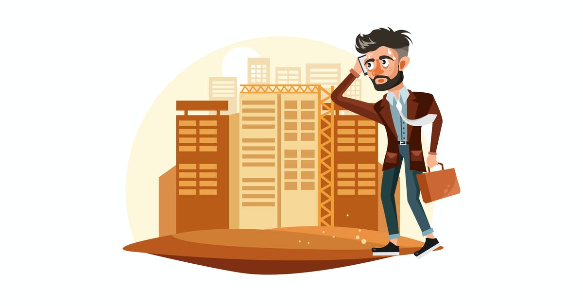 Download Tired Businessman Vector Illustration by IanMikraz