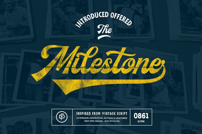 Thumbnail for Milestone Font Duo