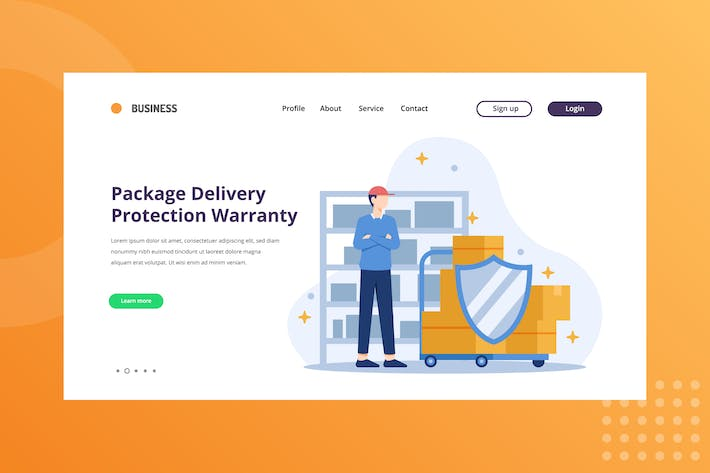 Thumbnail for Package Delivery Protection Warranty Landing Page
