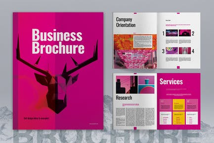 Magenta Business Brochure Layout