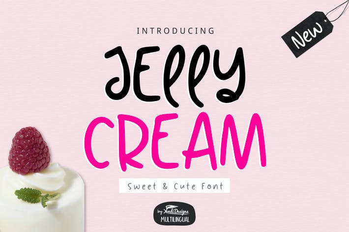 Thumbnail for Jelly Cream Font
