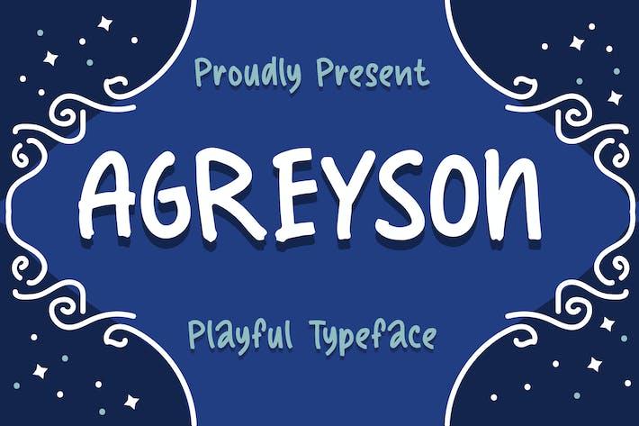 Agreyson - Un tipo de letra juguetón hecho a mano