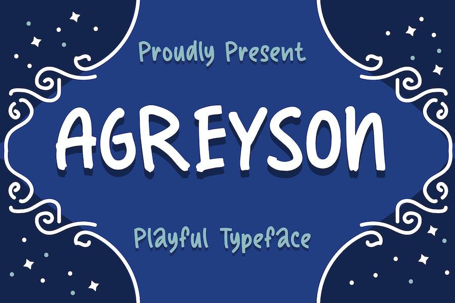 Agreyson - A Handmade Playful Typeface