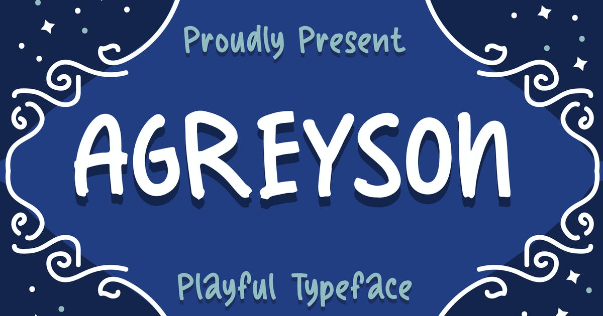 Download Agreyson - A Handmade Playful Typeface by IanMikraz