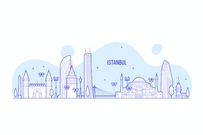Thumbnail for Istanbul skyline, Turkey