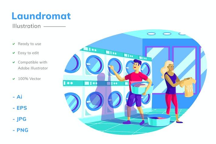Thumbnail for Waschsalon Illustration