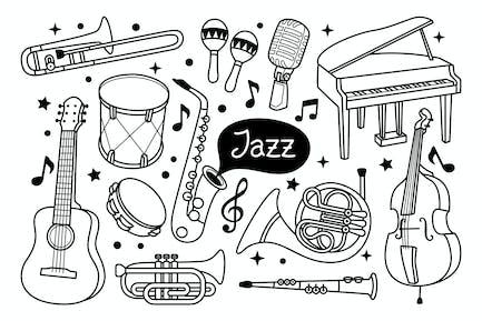 Illustration Jazz Doodle