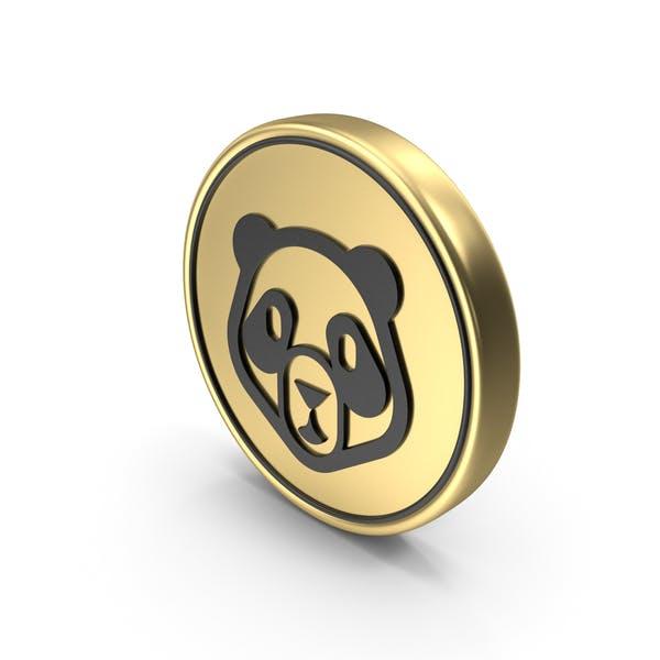Panda Face Coin Logo Icon
