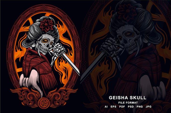 Thumbnail for Geisha Skull