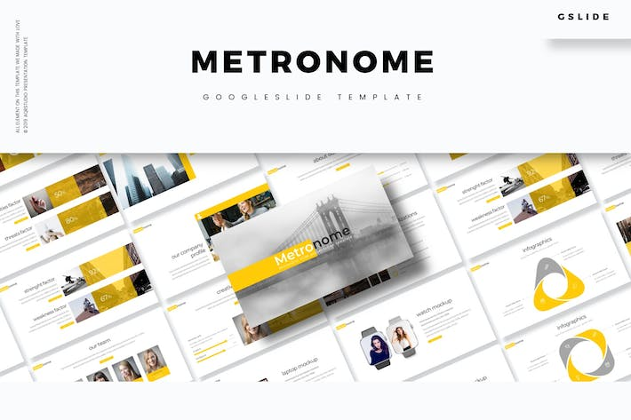 Cover Image For Metronome - Google slide Template