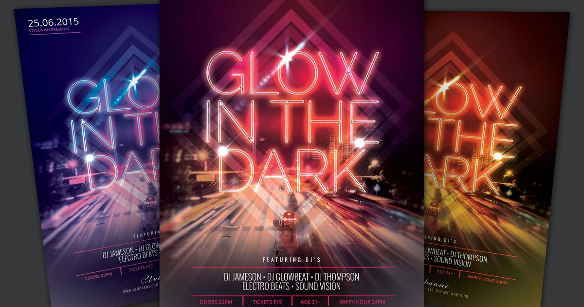 Glow In The Dark Flyer by styleWish on Envato Elements