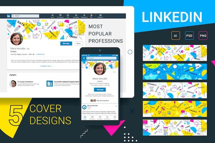 Thumbnail for Linkedin| cover designs set
